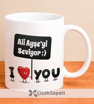designeed kişiye özel i love you kupa