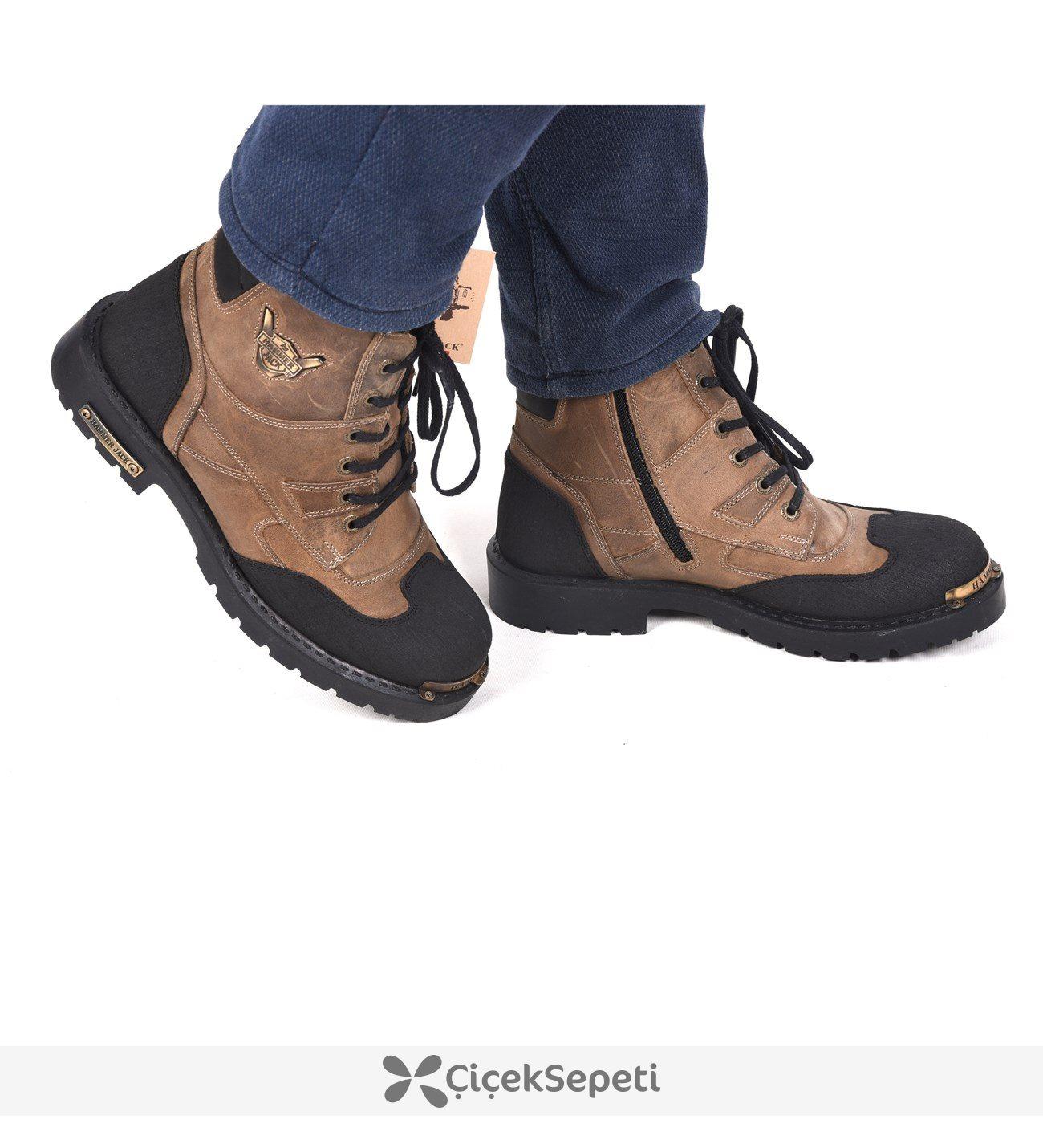 16550-M Kum Crayz Deri Günlük Erkek Bot Ayakkabı 3470