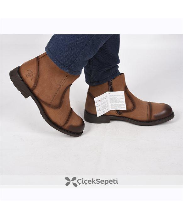 16740-M Taba Nubuk Deri Kışlık Erkek Bot Ayakkabı 3475