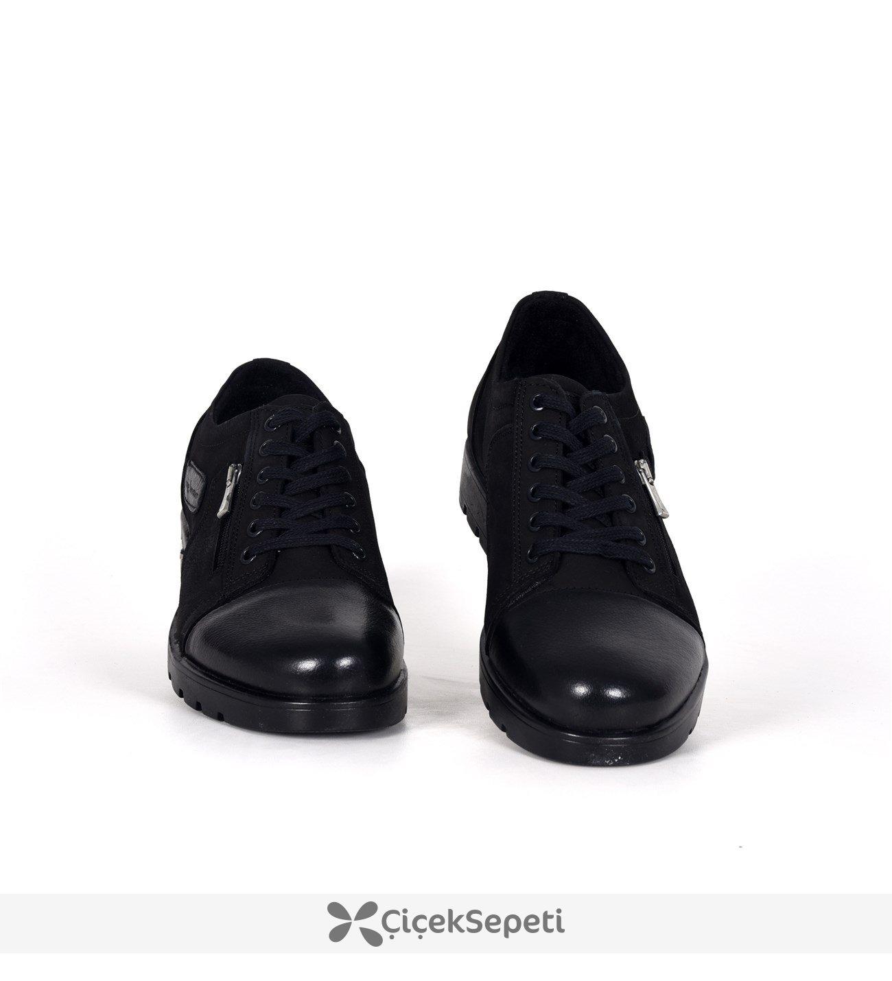 7882 Siyah Bağcıklı Nubuk Deri Kışlık Erkek Bot Ayakkabı 3690