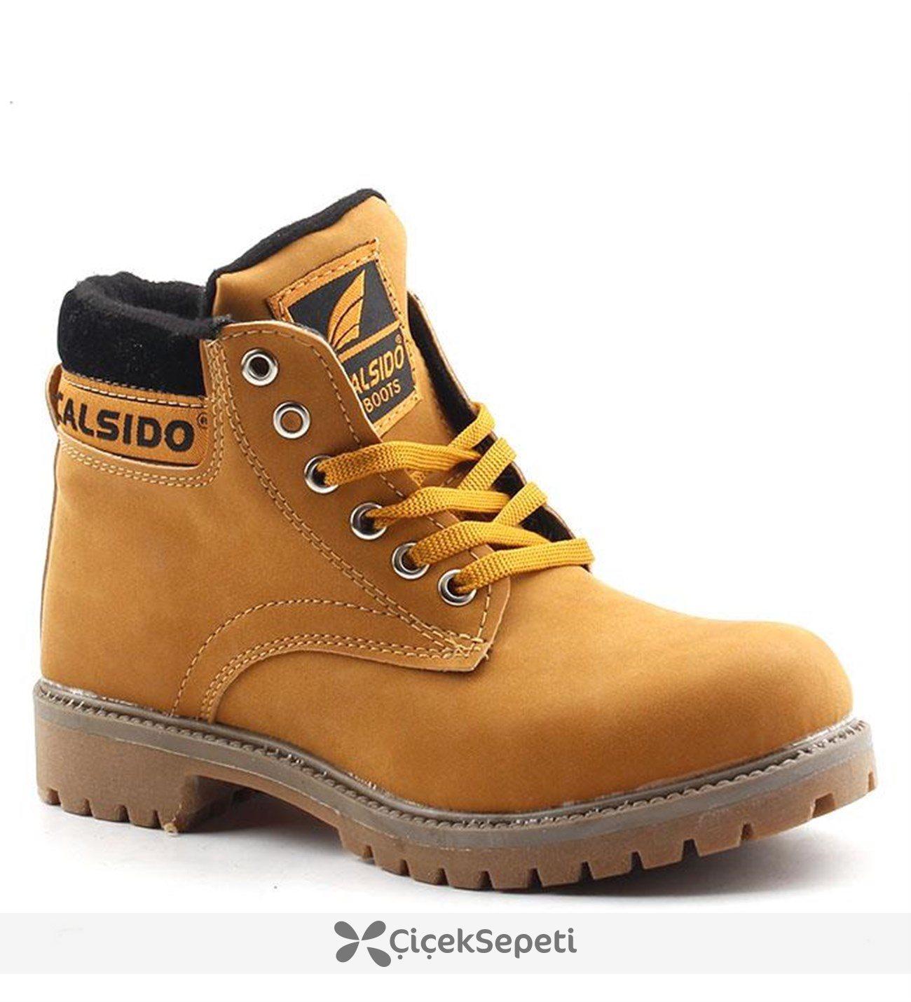 Calsido Camel Erkek Çocuk Bot Ayakkabı