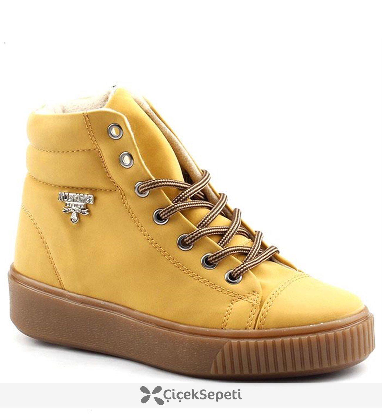 All Force 810 Sarı Kadın Bot Ayakkabı