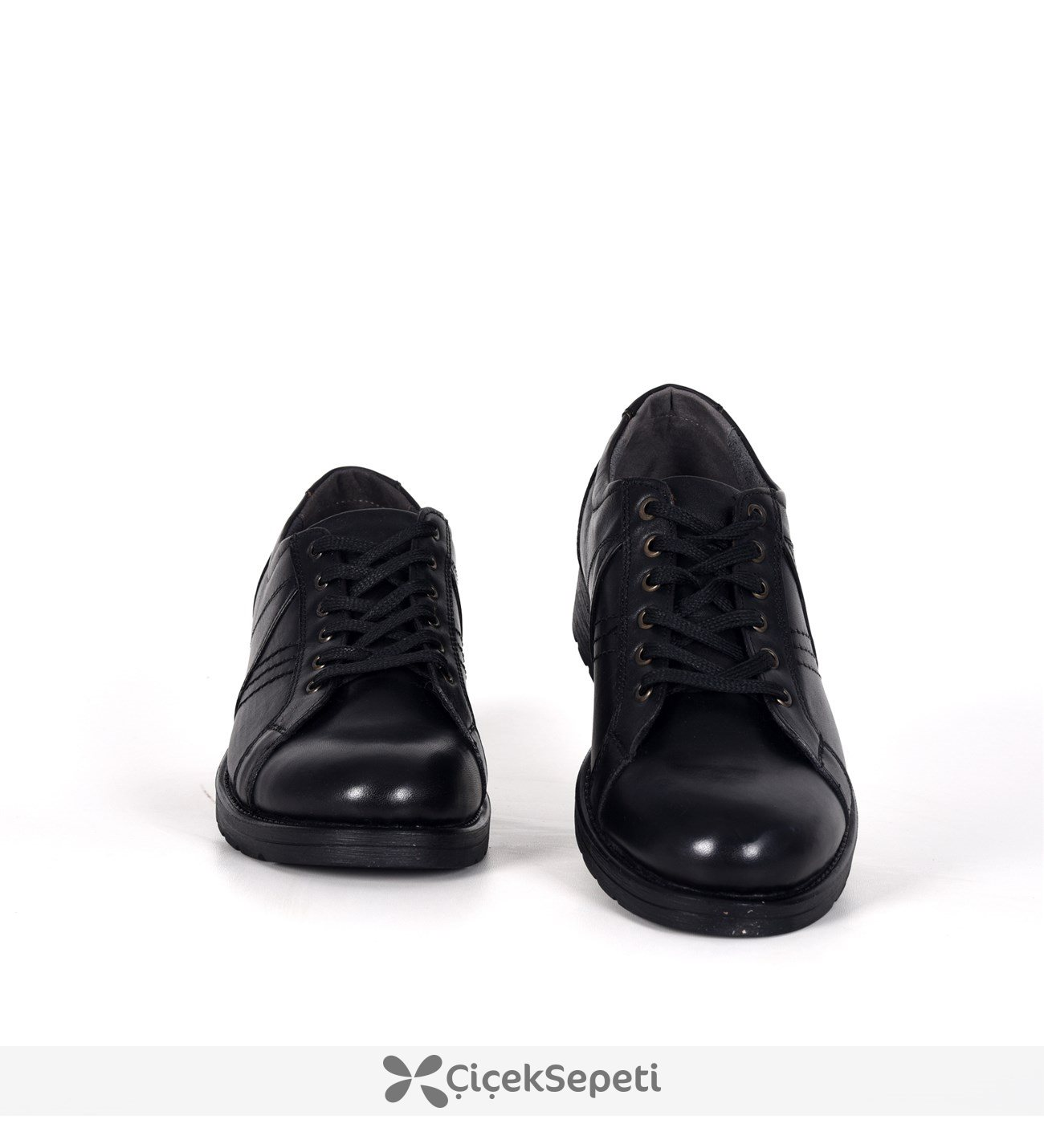 Siyah Bağcıklı Deri Su Geçirmez Kışlık Erkek Bot Ayakkabı 3681