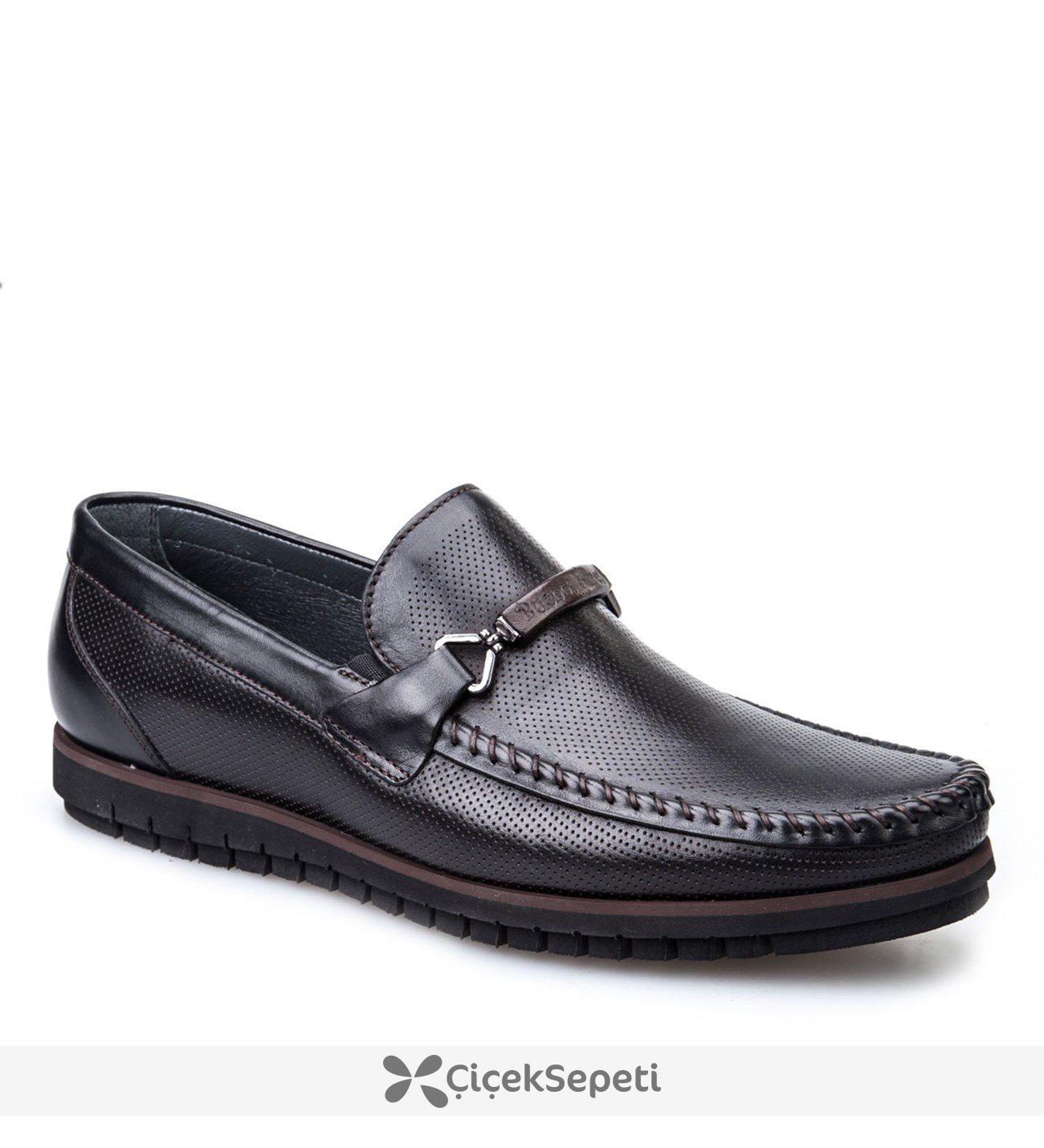 Cabani Light Taban Günlük Erkek Ayakkabı Siyah Deri