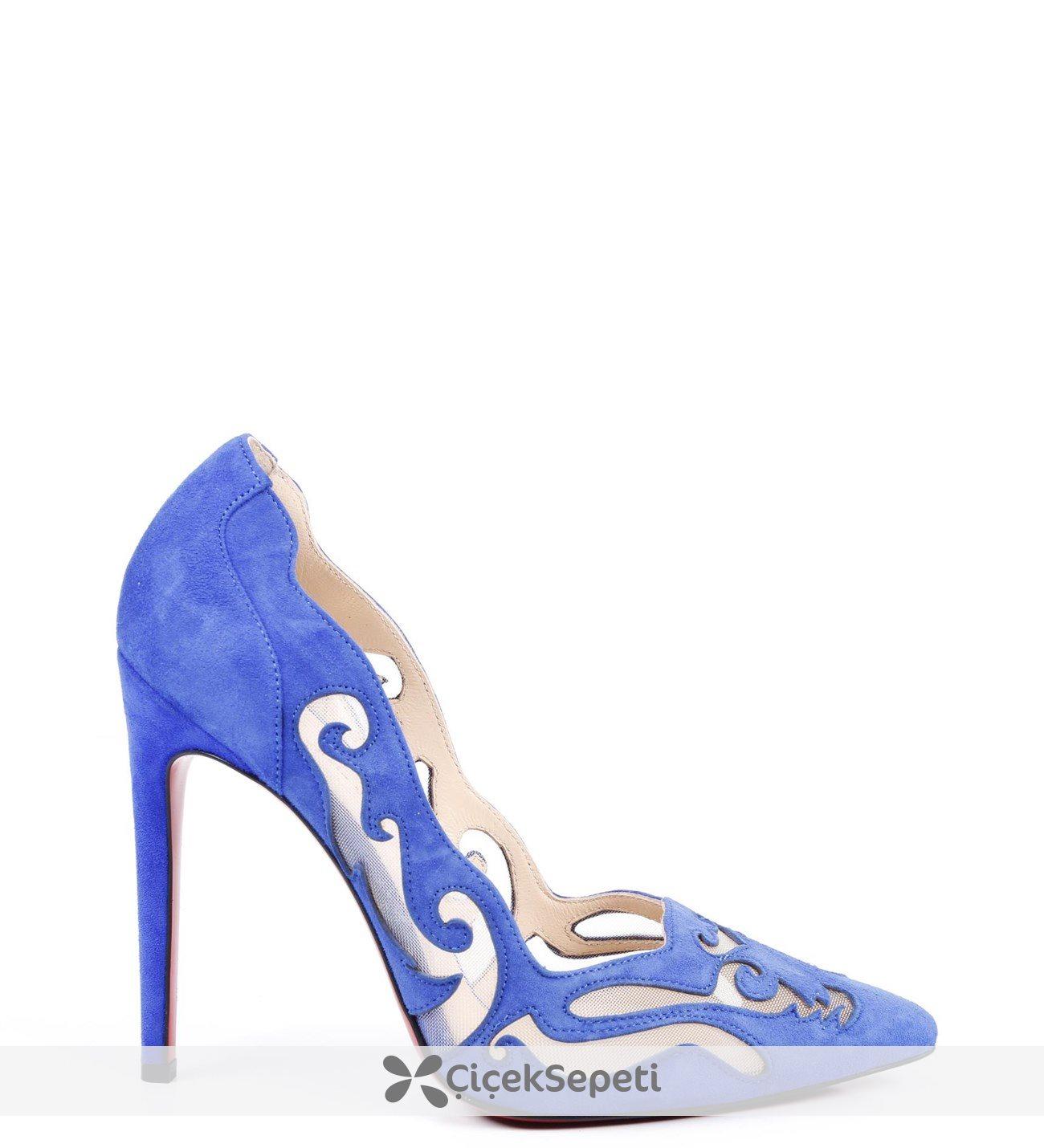 Süet File Desenli Bayan Ayakkabısı 58