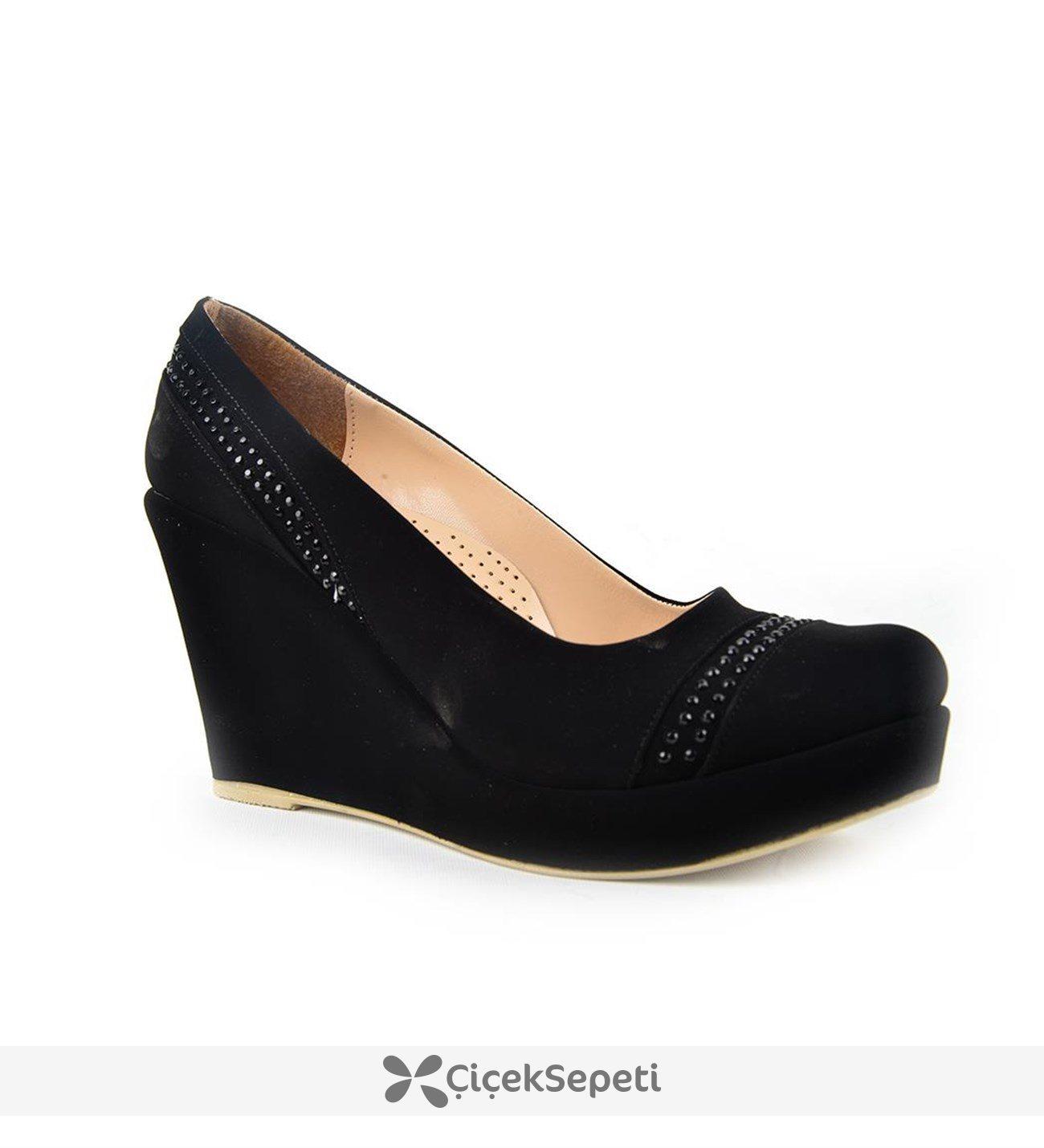 Kaplan 224 Zn 9 Cm Süet Dolgu Topuk Bayan Ayakkabı