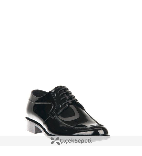 Ziya Erkek Hakiki Deri Ayakkabı 8163 2061 Sıyah