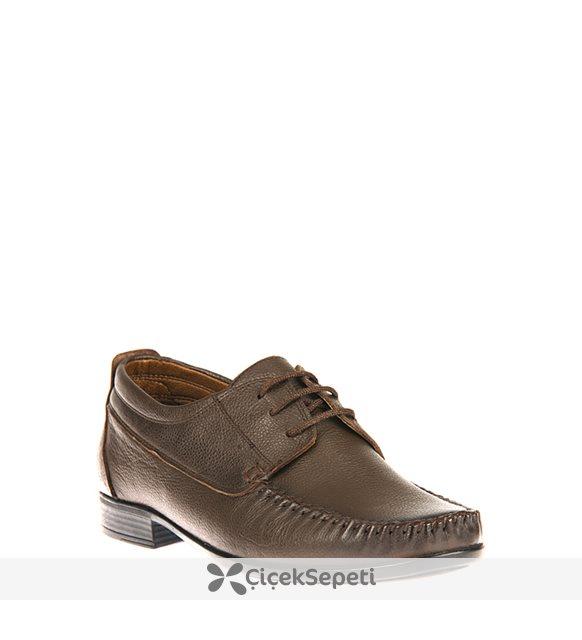 Ziya Erkek Hakiki Deri Ayakkabı 8171 106 K.KAHVE