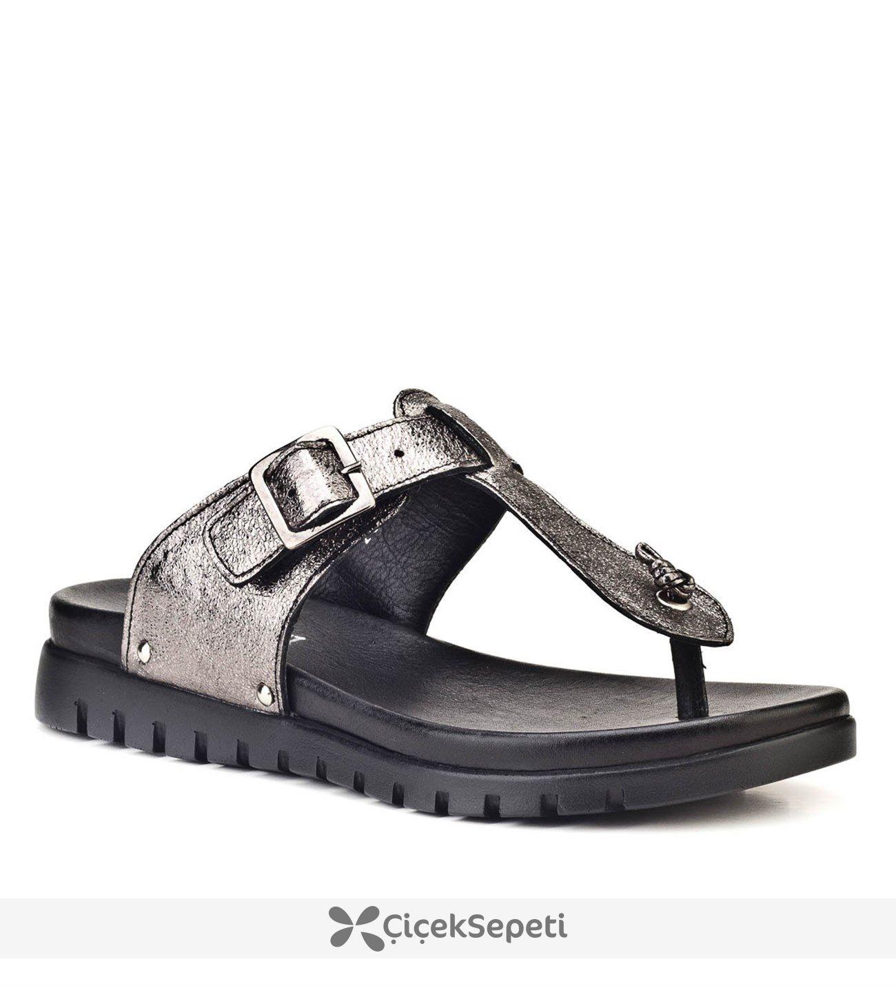 Cabani 8YBE05SA005U85 Gri Kadın Sandalet