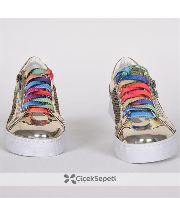 Verlass Fermuarlı Ortopedik Günlük Sarı Çocuk Ayakkabı