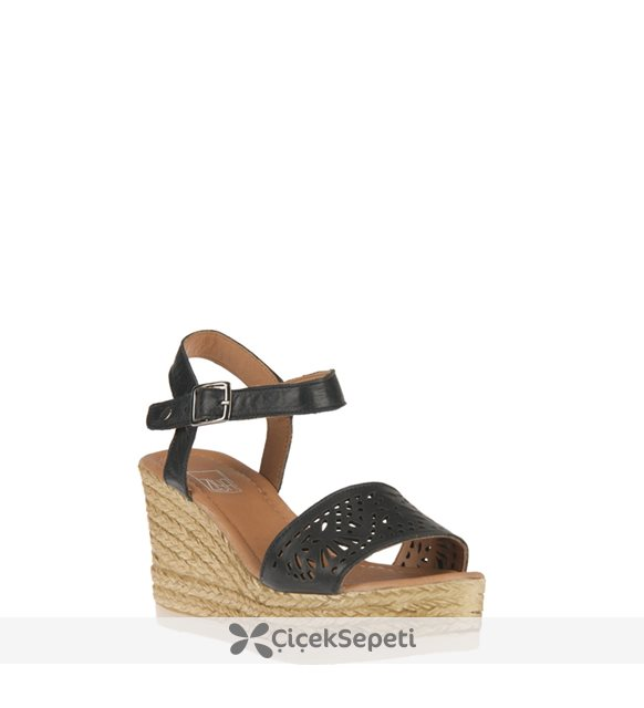 Ziya Kadın Hakiki Deri Sandalet 8176 6048 Sıyah