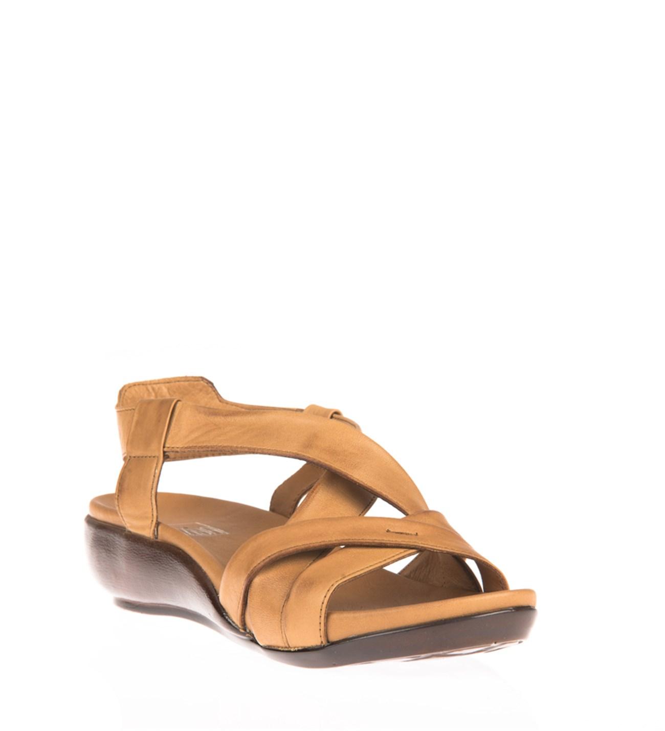 Ziya Kadın Hakiki Deri Sandalet 8176 9038 Taba