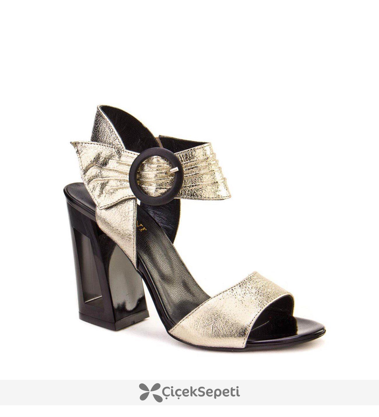 Cabani 8YBC66SA002R88 Altın Kadın Topuklu Ayakkabı