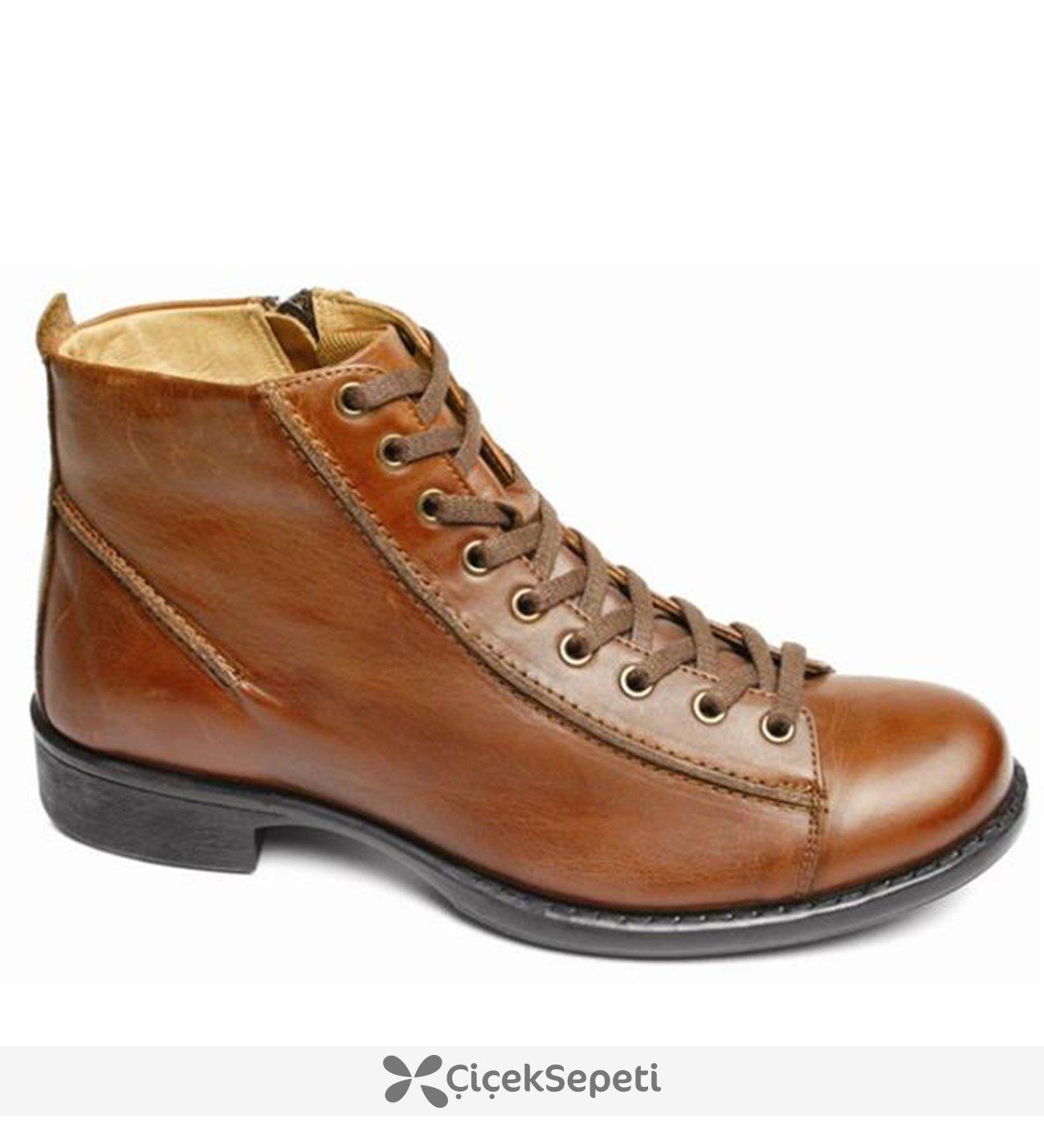 Scooter M580 GKK %100 Deri Bağcıklı Klasik Günlük Erkek Bot Ayakkabı