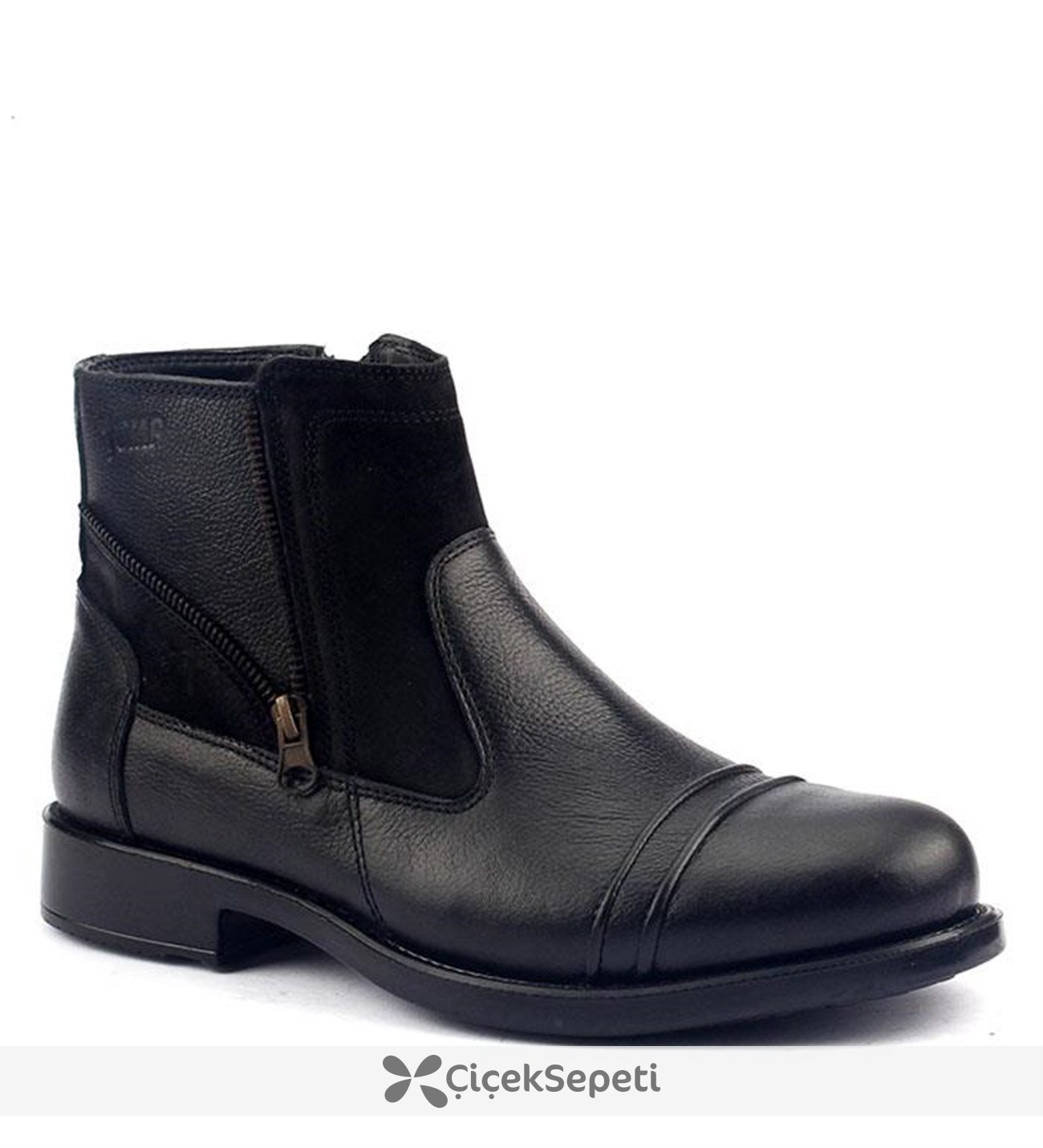 Jump 14477-A Günlük %100 Deri Termo Taban Erkek Bot Ayakkabı Siyah