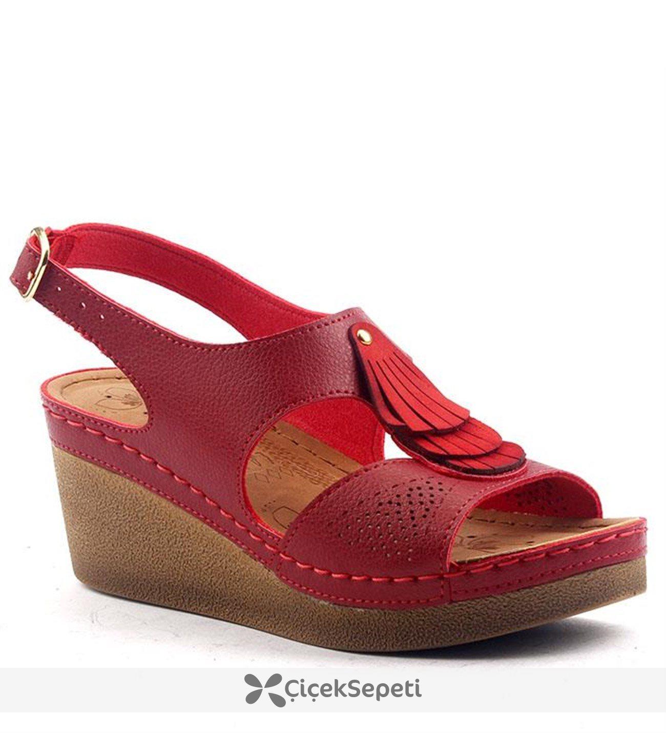 Jump 14760 Günlük Anatomik 65 cm Topuk Bayan Sandalet Ayakkabı