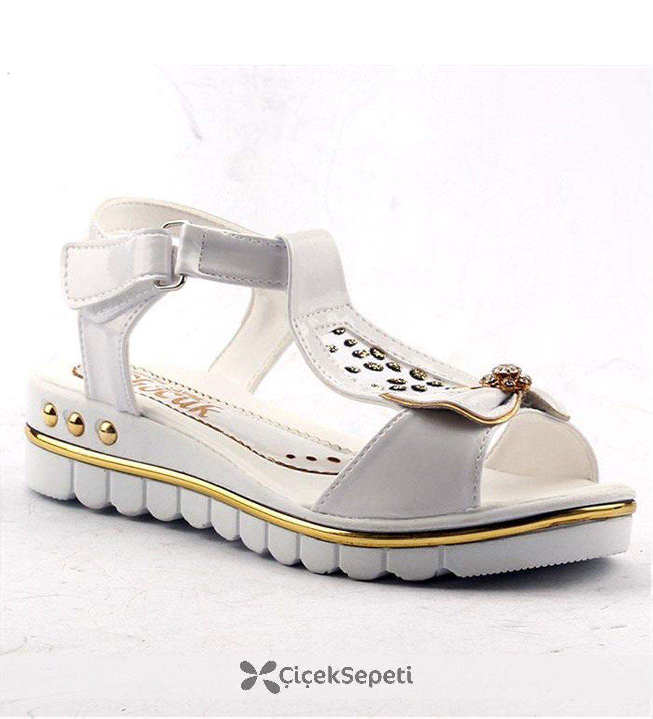 Jasmine 370 Günlük Cırtlı Abiye Kız Çocuk Yazlık Sandalet Ayakkabı