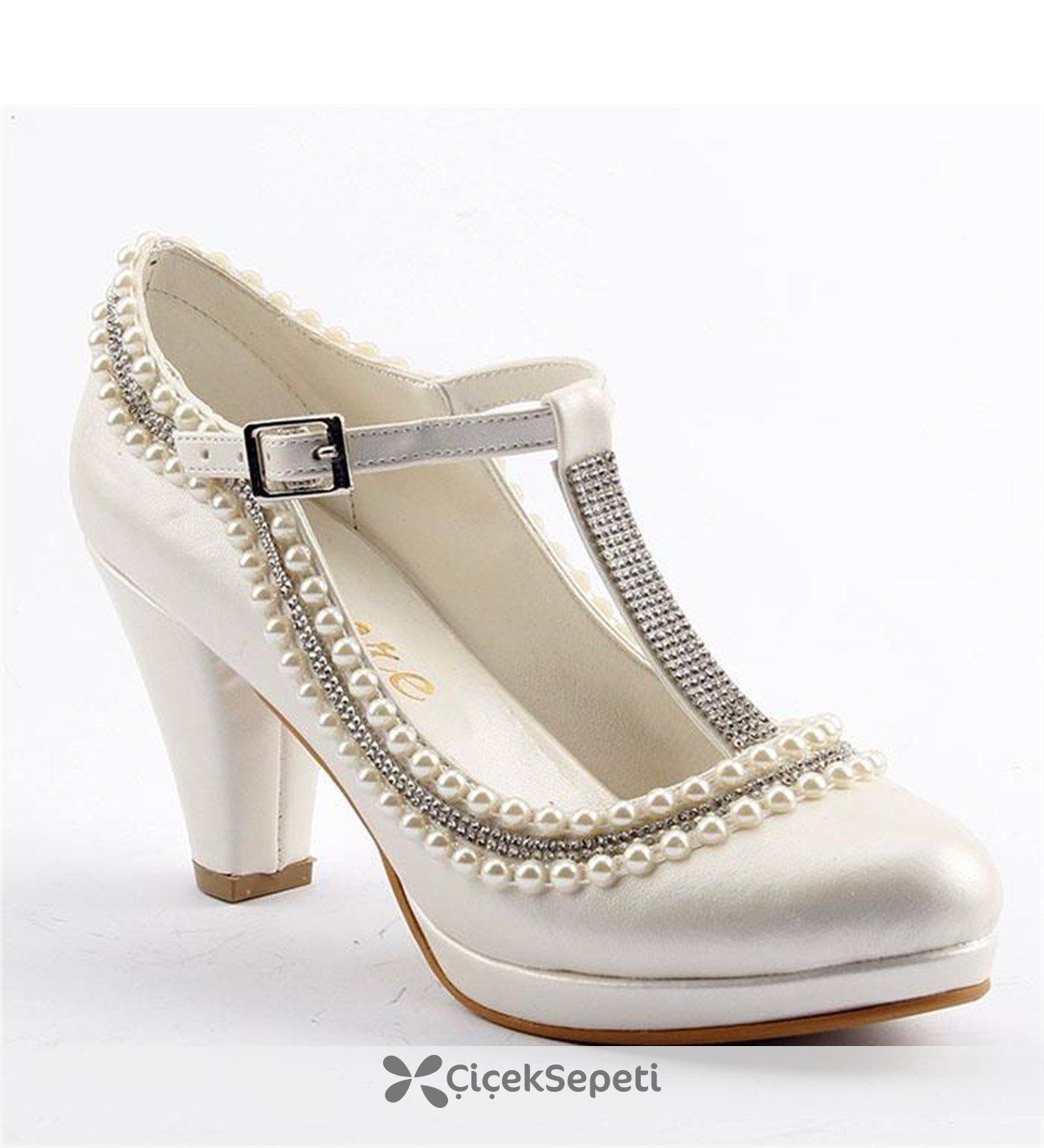 Cemre 70  Sedef Kadın Abiye Ayakkabı