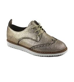 Bronz Renk Oxford Klasik Bayan Günlük Ayakkabı 7771
