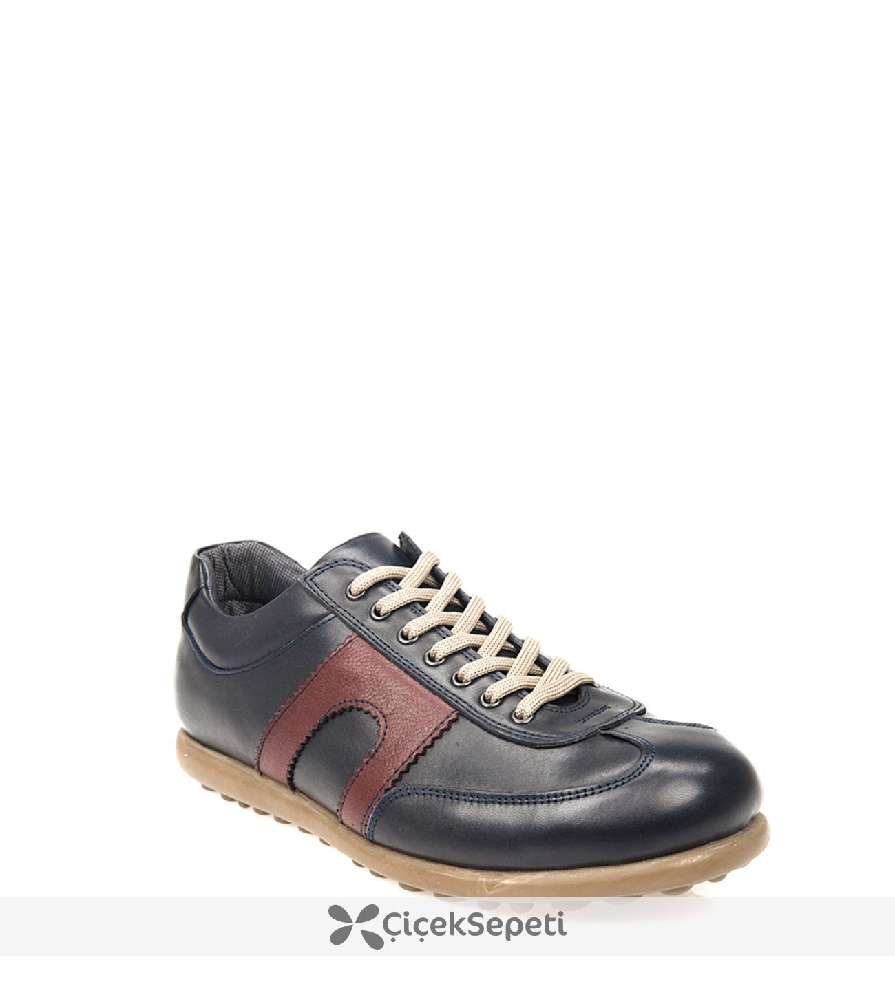 Ziya Erkek Hakiki Deri Ayakkabı 8171 292 Laci-Bordo