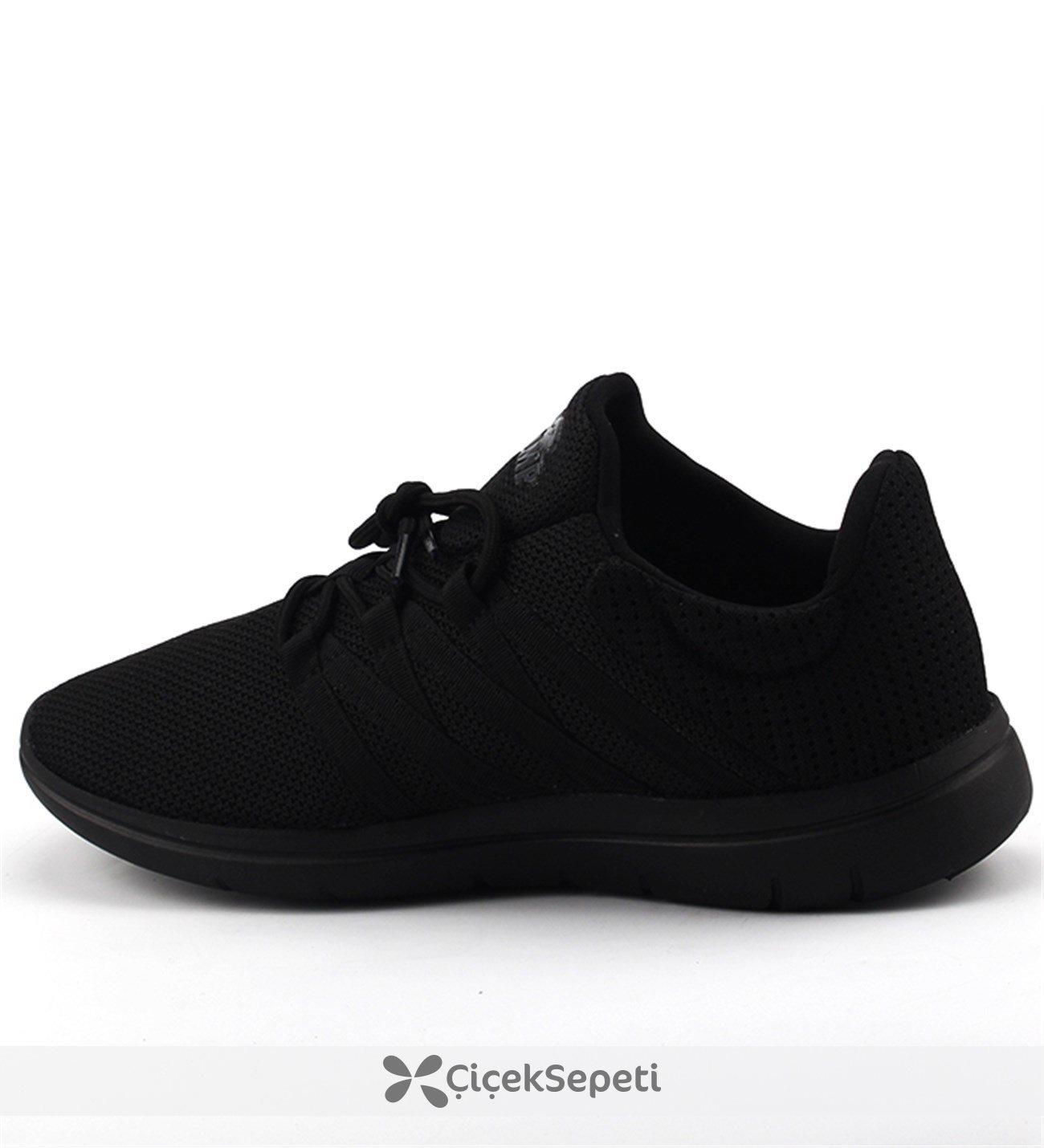 Jump 17662 Siyah Günlük Yürüyüş Koşu Fileli Erkek Spor Ayakkabı