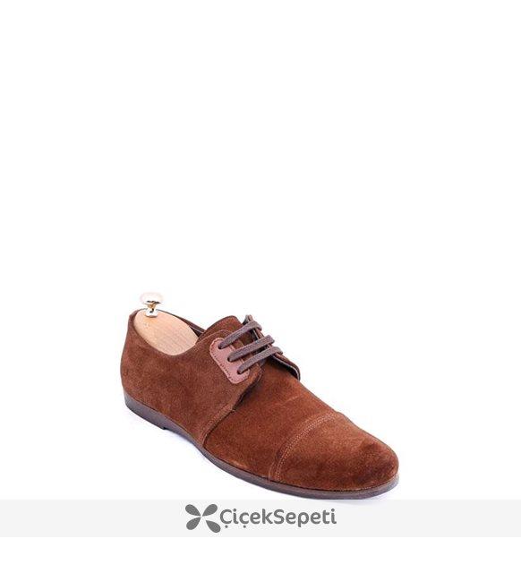 Süet Taba Ayakkabı Taba AYK-655-S51