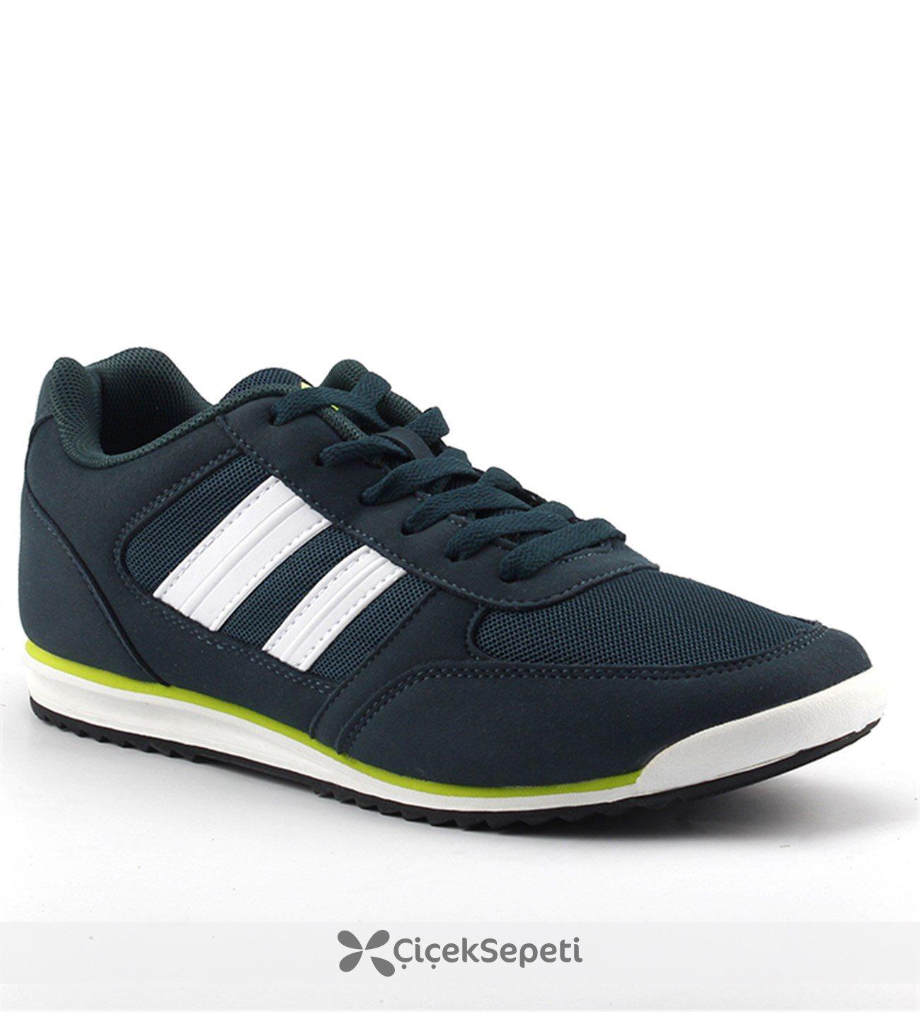 Jump 15451 Fileli Günlük Ortopedik Yürüyüş Erkek Spor Ayakkabı Yeşil