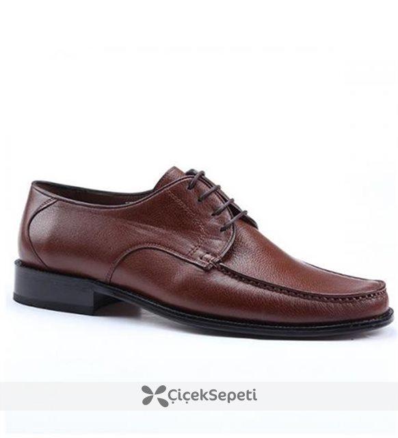 Nevzat Zöhre 032 %100 Deri Günlük Klasik Erkek Ayakkabı Taba