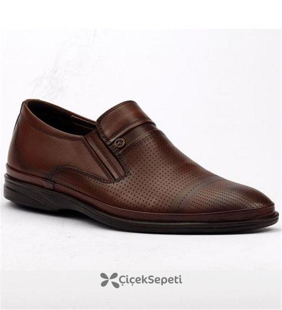 Cafu 1562 Taba Günlük %100 Deri Rahat Erkek Ayakkabı