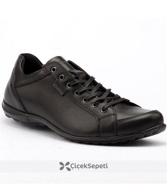 Scooter X0224 Büyük Numara %100 Deri Günlük Erkek Ayakkabı Siyah