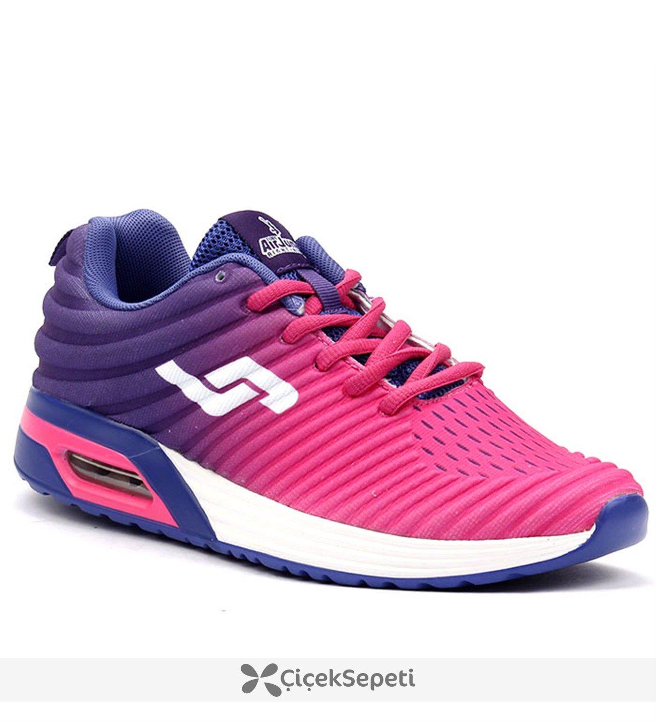 Jump 15261 Siyah Air Günlük Yürüyüş Koşu Bayan Spor Ayakkabı