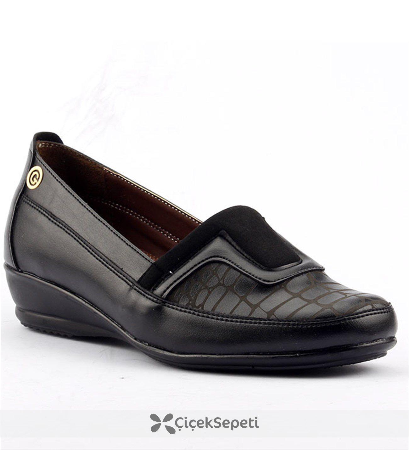 Ayakland 107 Yumuşak Taban Anne Bayan Klasik Ayakkabı Kahverengi
