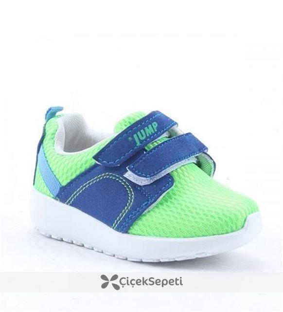 Jump 13100 Günlük Yürüyüş Ortopedik Erkek Kız Çocuk Spor Ayakkabı Yeşil