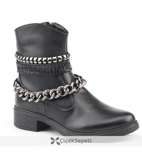 Jump 14385-A Günlük Fermuarlı Termo Taban Bayan Bot Ayakkabı