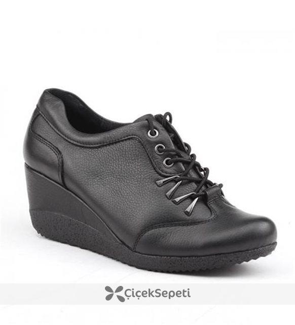 Siber 7554 Siyah Ortopedik Kadın Ayakkabı