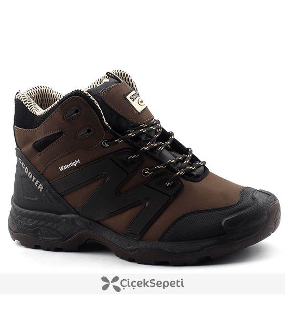 Scooter 17K5223 Tka Günlük Erkek Bot Ayakkabı Kahverengi