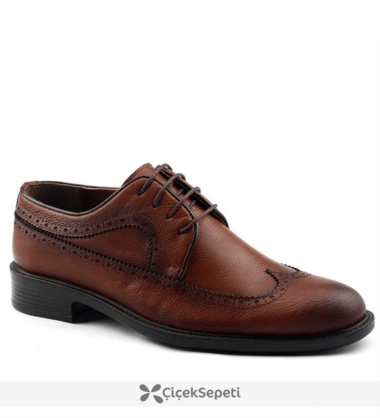 Epaş 147 Termo Taban %100 Deri Erkek Klasik Ayakkabı Taba