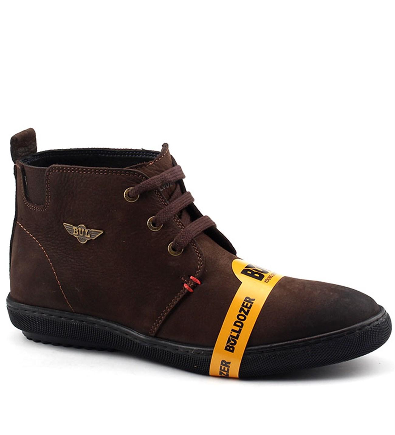 Bulldozer 15892 Günlük Nubuk Deri Termo Taban Erkek Bot Ayakkabı Kahverengi