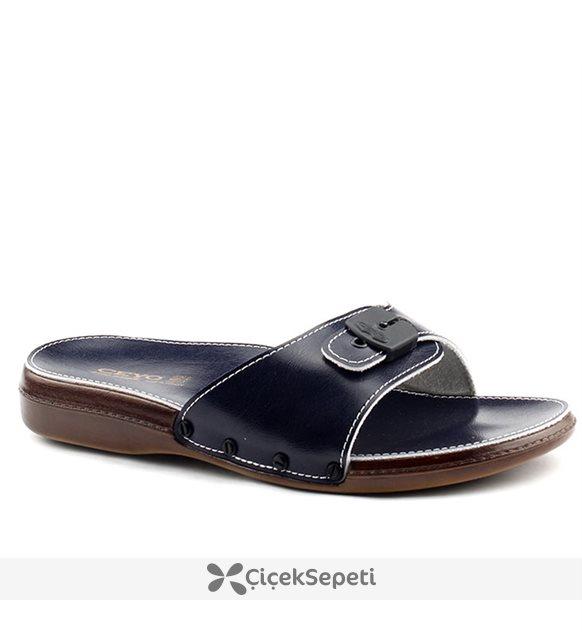 Ceyo 6300 Minelli Siyah Günlük Ortopedik  Erkek Terlik Ayakkabı