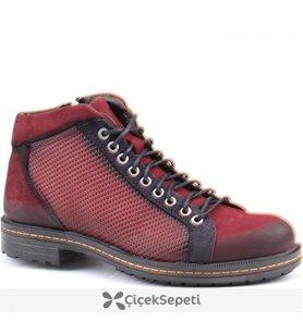 Jump 14517 F Günlük %100 Deri Termo Taban Erkek Bot Ayakkabı Bordo