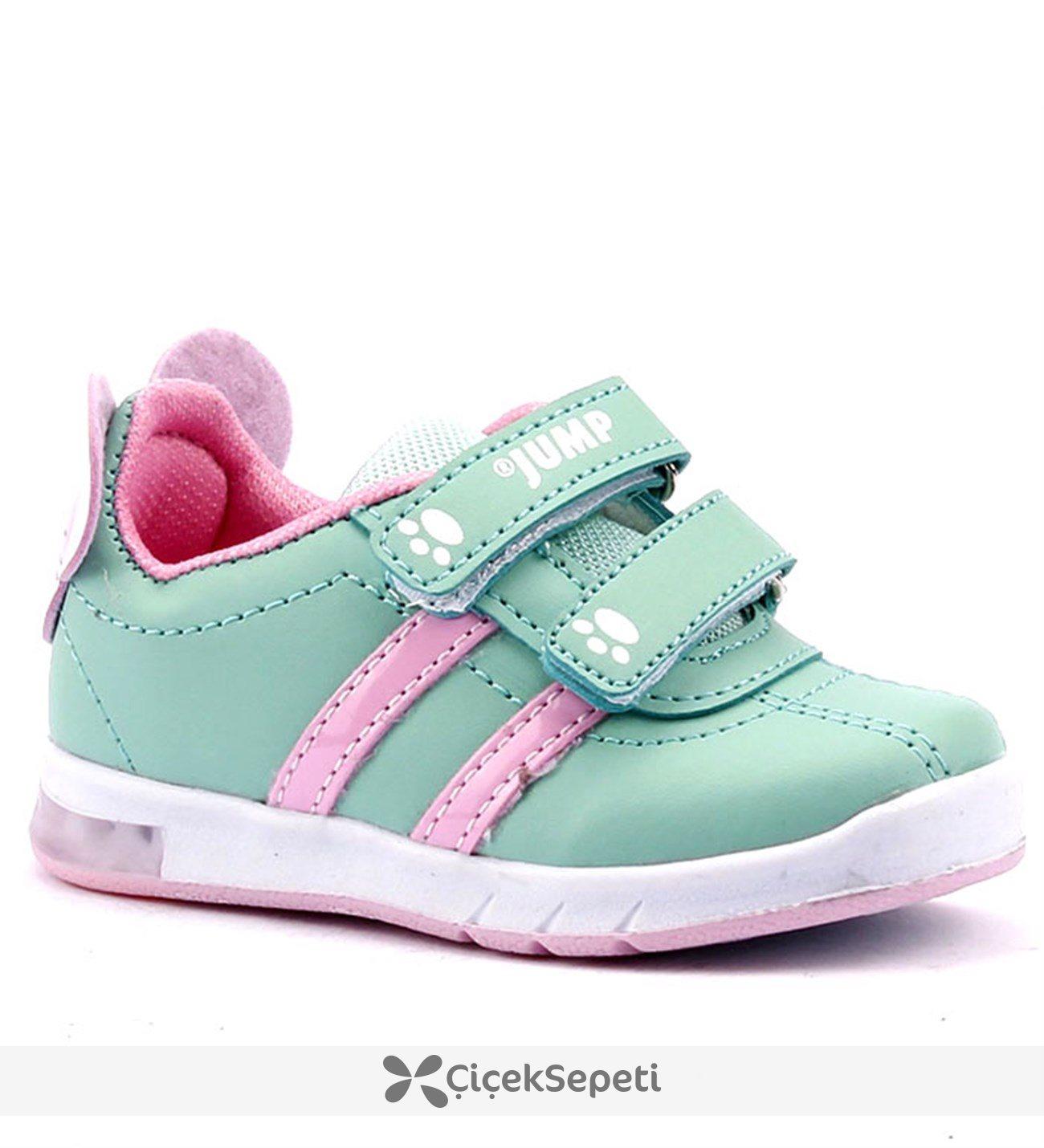 Jump 13605 Işıklı Cırtlı Bebe Kız Çocuk Spor Ayakkabı Mor