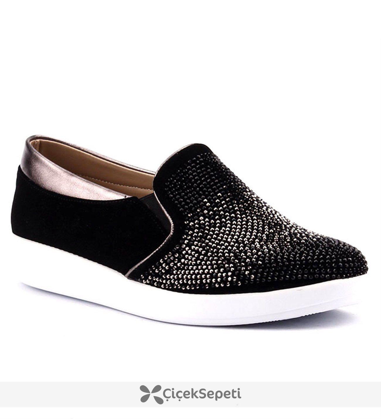 Rsl 44 Platin Simli Günlük Kadın Yürüyüş Ayakkabı Gümüş
