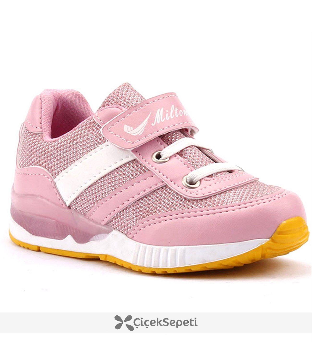 Miltone Günlük Yürüyüş Cırtlı Kız Çocuk Spor Ayakkabı Pembe