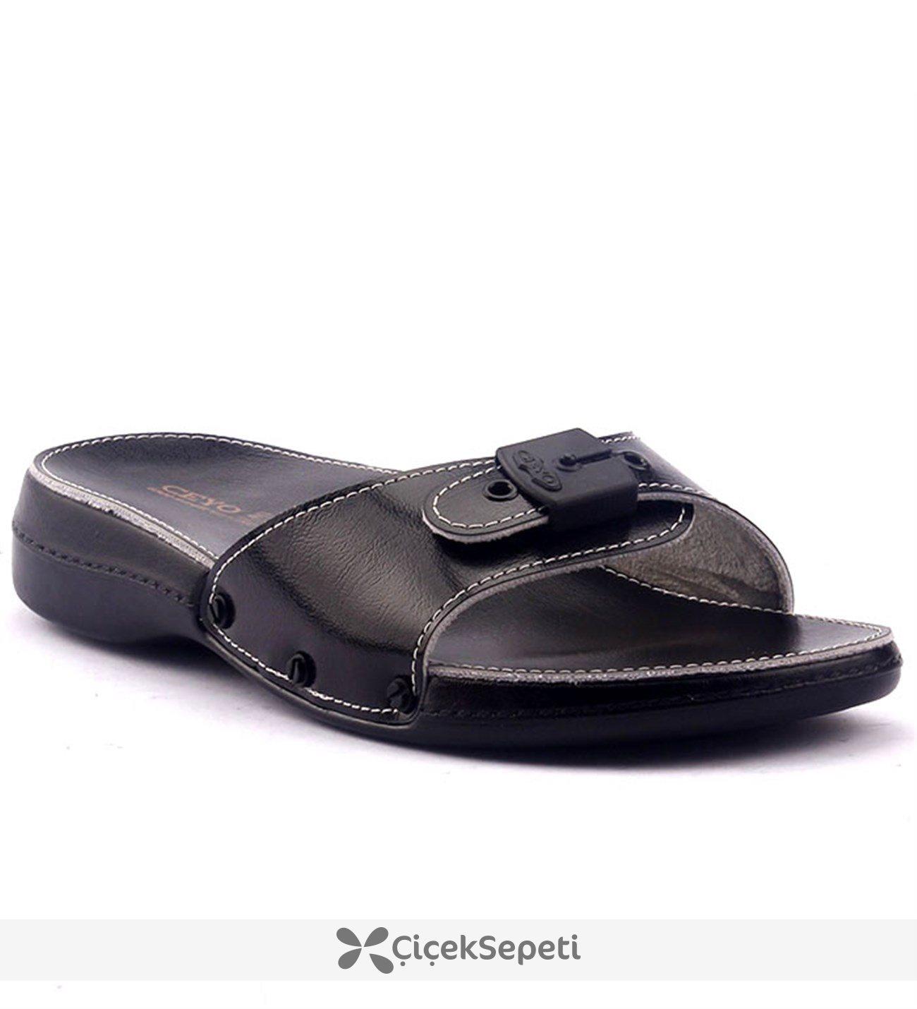 Ceyo 6500 Minelli Ortopedik Bayan Terlik Ayakkabı Siyah