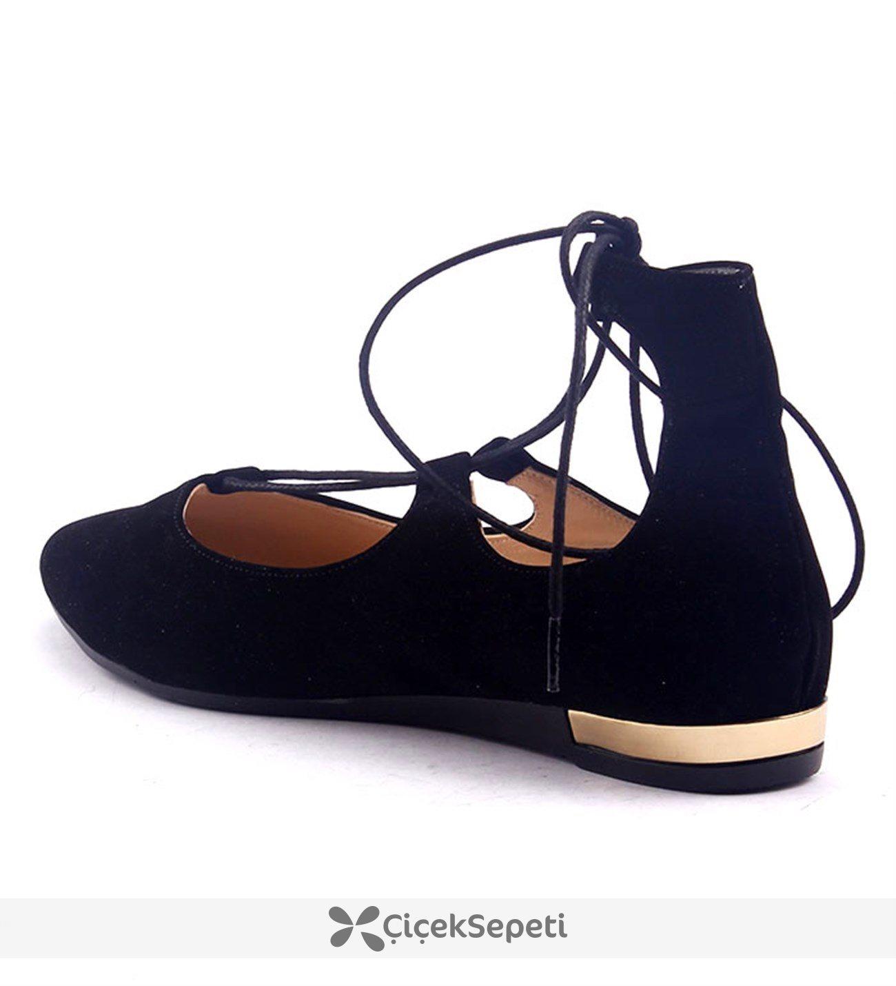 Yükseksoy Bilekten İpli Bayan Süet Ayakkabı