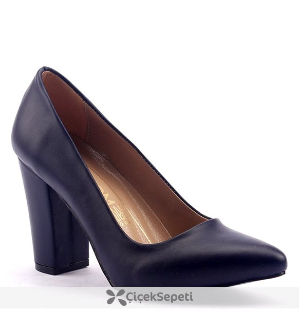 Mangom 120 Stiletto 8.5 cm Kalın Topuk Bayan Ayakkabı