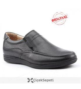 Riwalli 307 %100 Deri Klasik Ortopedik Erkek Ayakkabı Siyah
