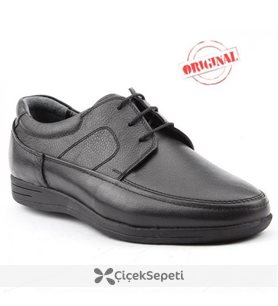 Riwalli 561 Günlük  %100 Deri Klasik Ortopedik Erkek Ayakkabı Siyah