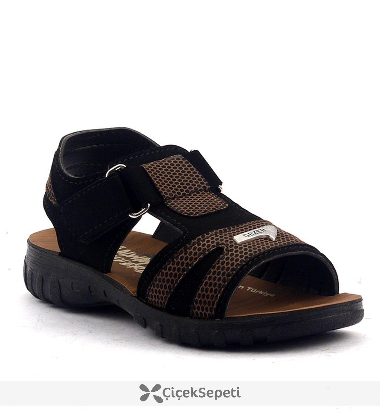 Gezer 9495 Günlük Cırtlı Hafif Rahat Taban Erkek Çocuğu Sandalet Beyaz