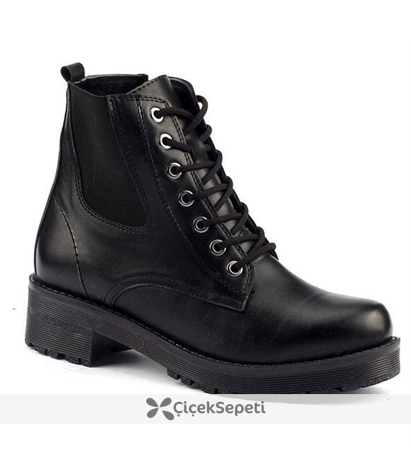 Wanessa 1130 Termal Taban 5 Cm Topuk Bayan Cilt Bot Ayakkabı